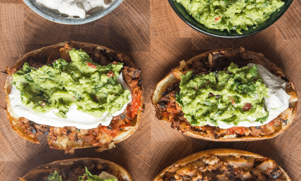 Deliciously Ella's loaded potato skins