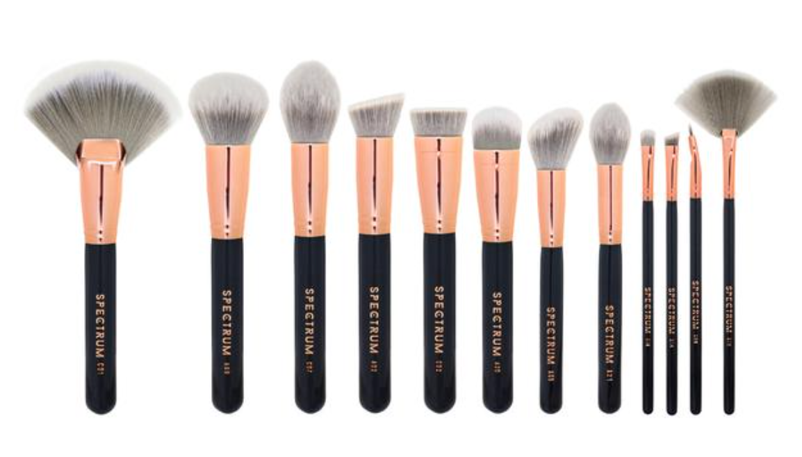 Spectrum vegan and cruelty free Marbelous makeup brushes