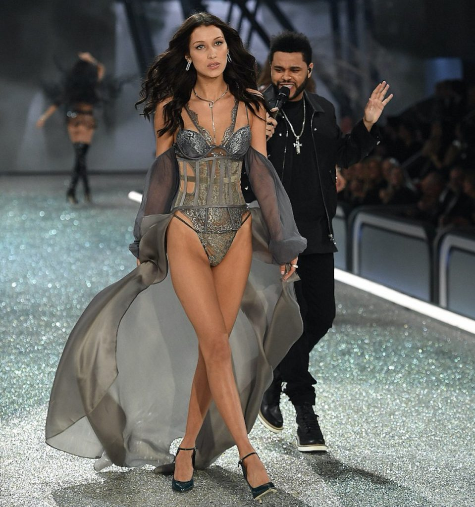 Bella Hadid and The Weeknd at Victoria's Secret show 2016