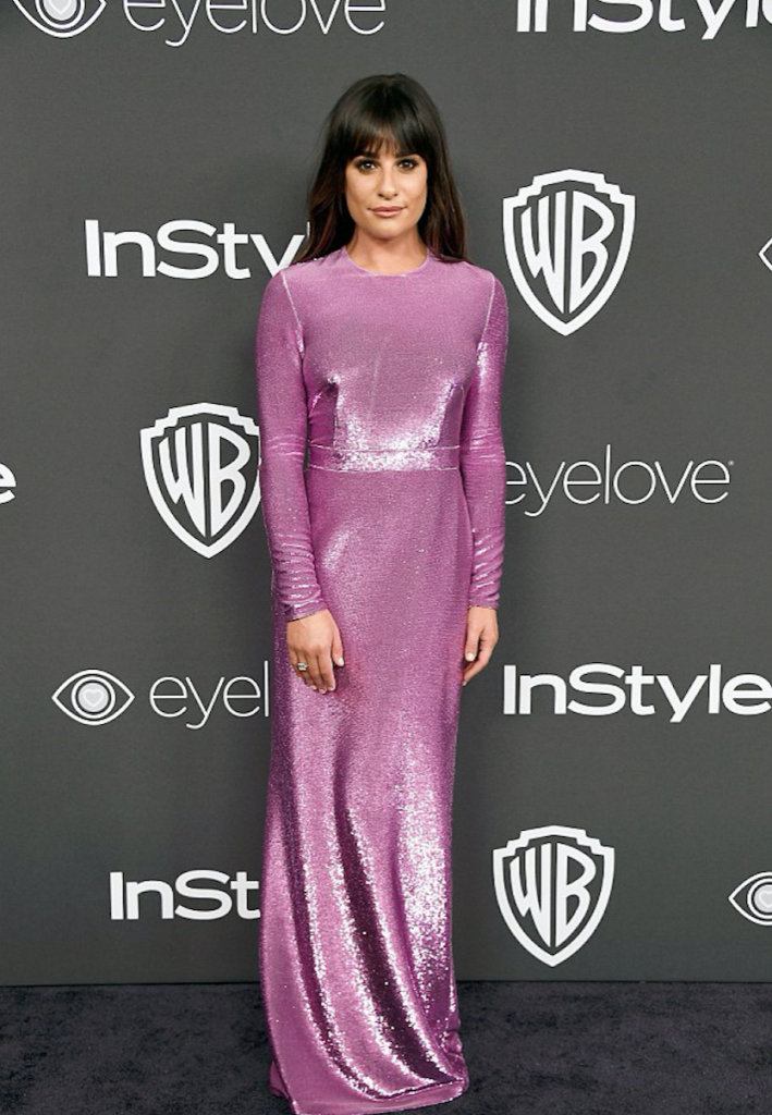 Lea Michele Golden Globes 2017