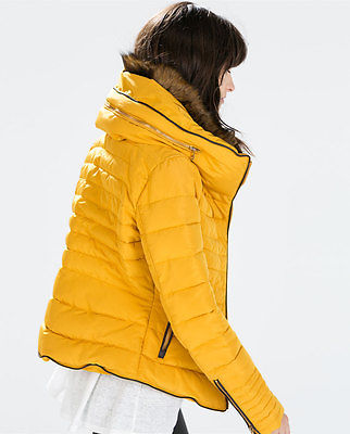 Zara yellow padded jacket