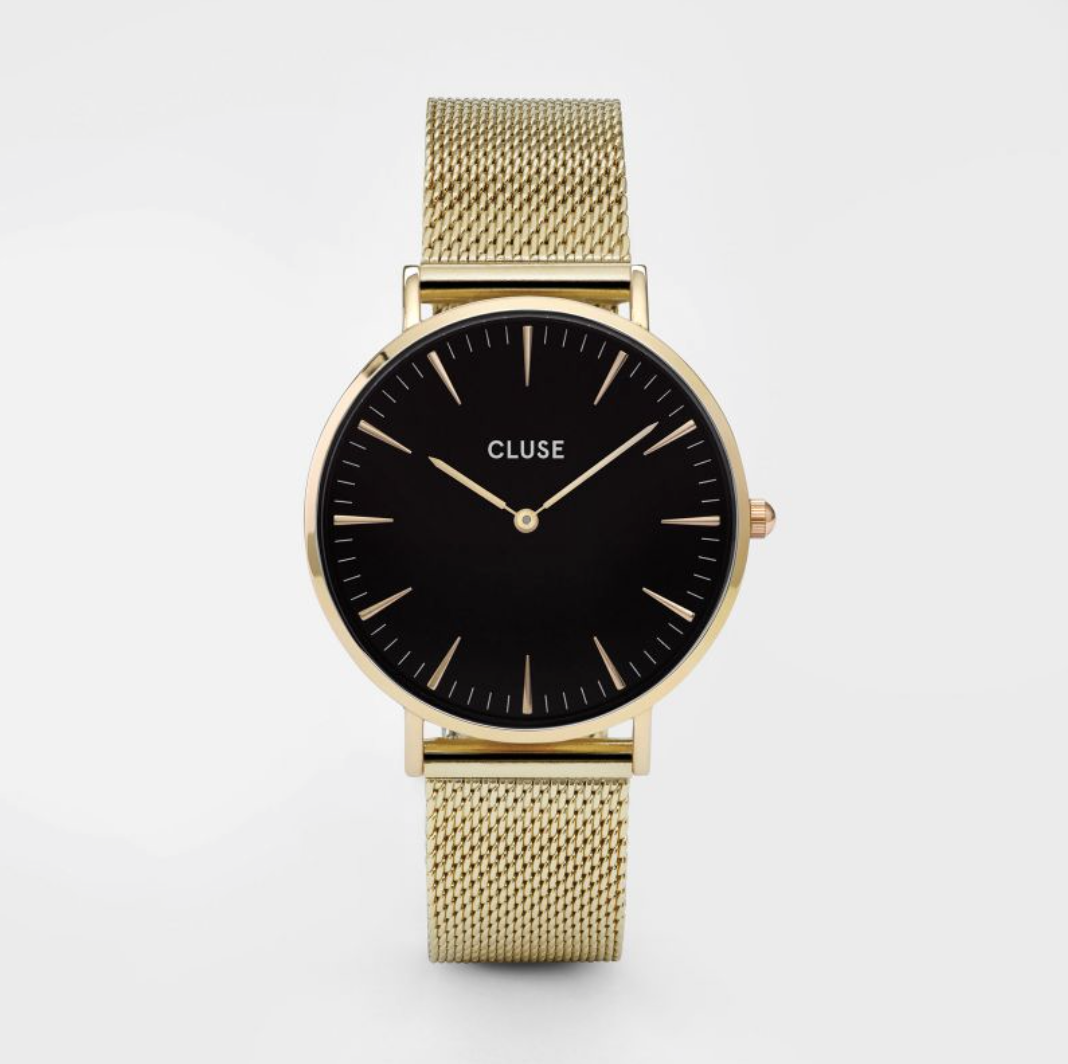 Cluse gold watch