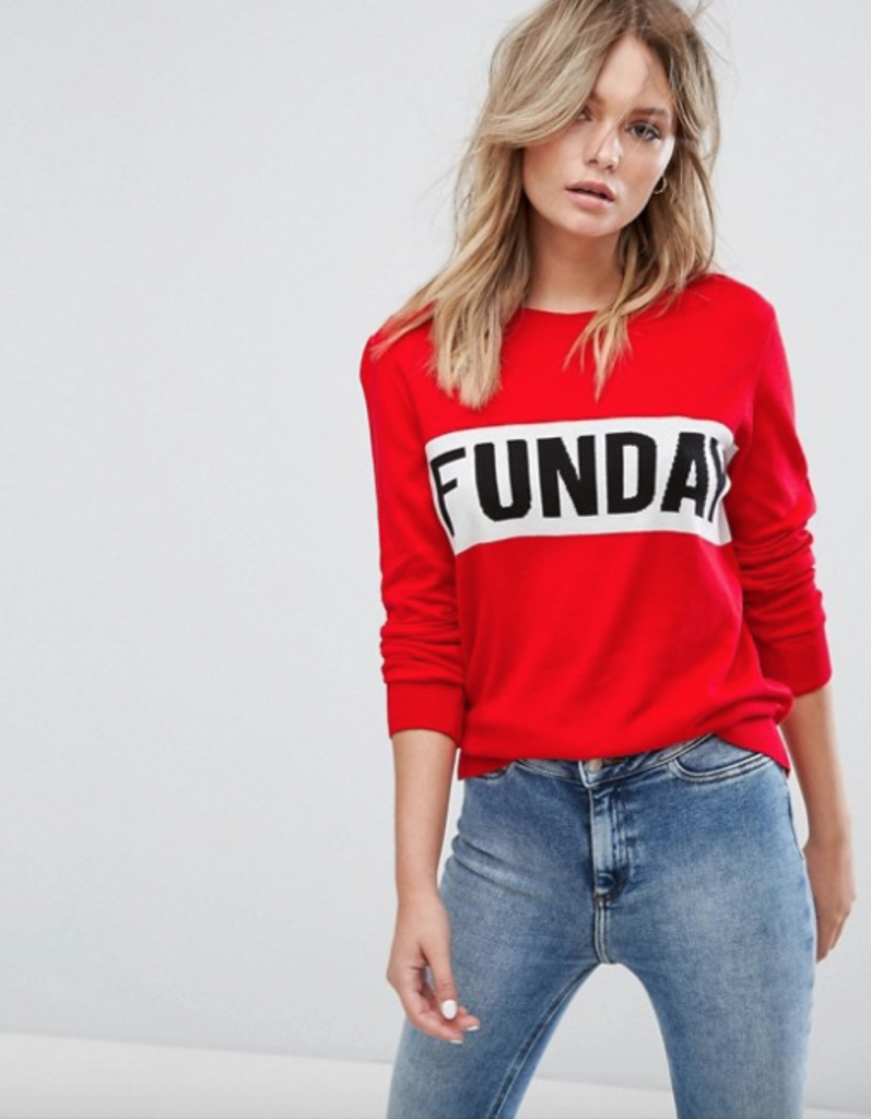 New Look red Sunday jumper