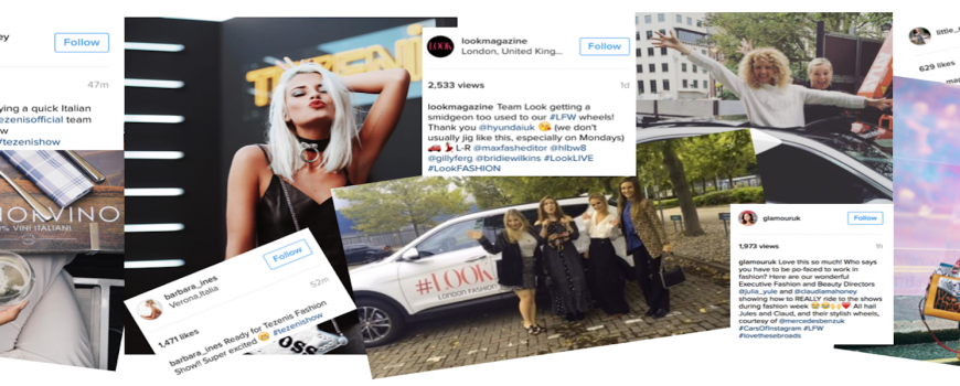 London Fashion Week influencer posts