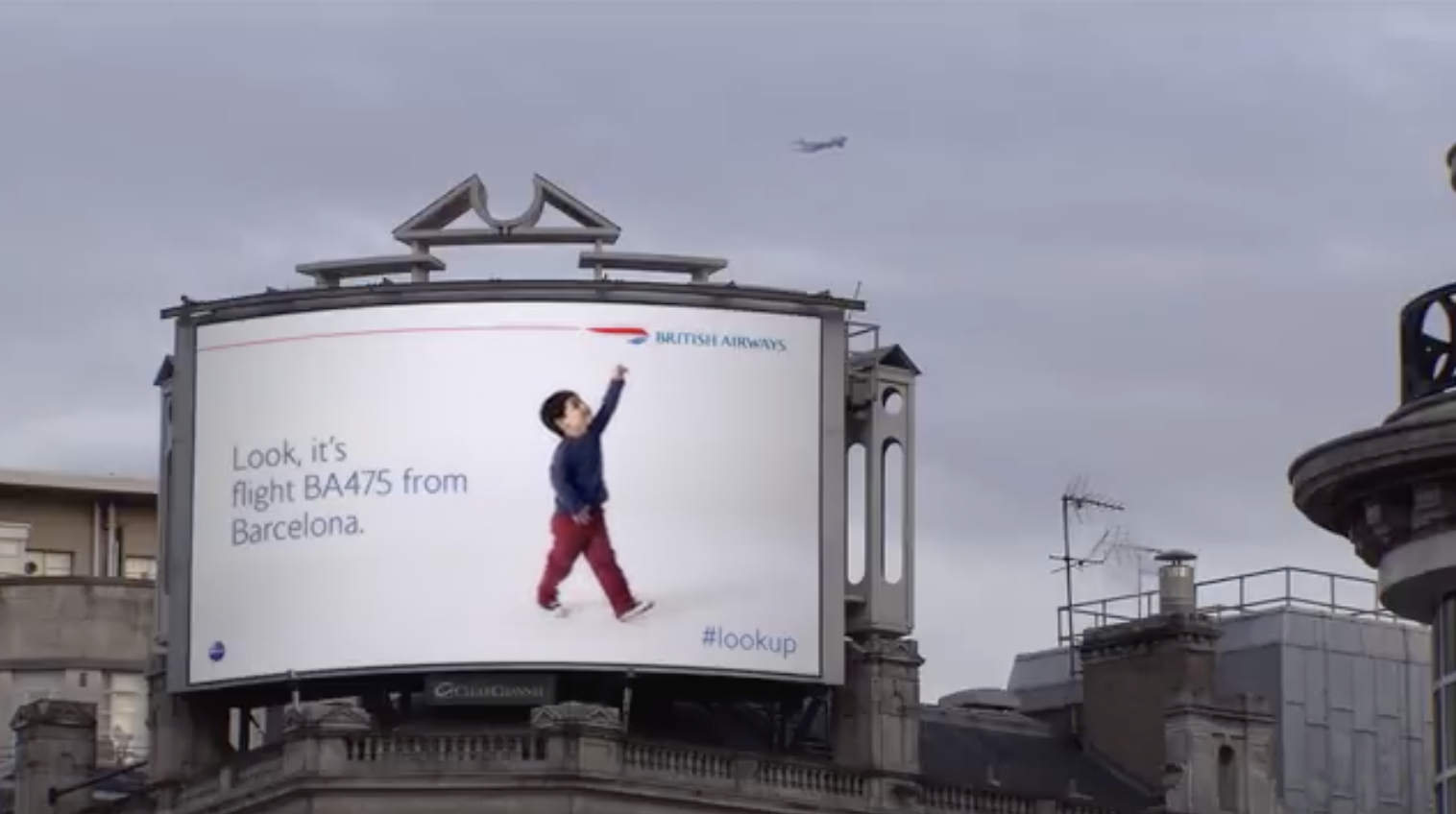 British Airways billboard campaign #lookup PR